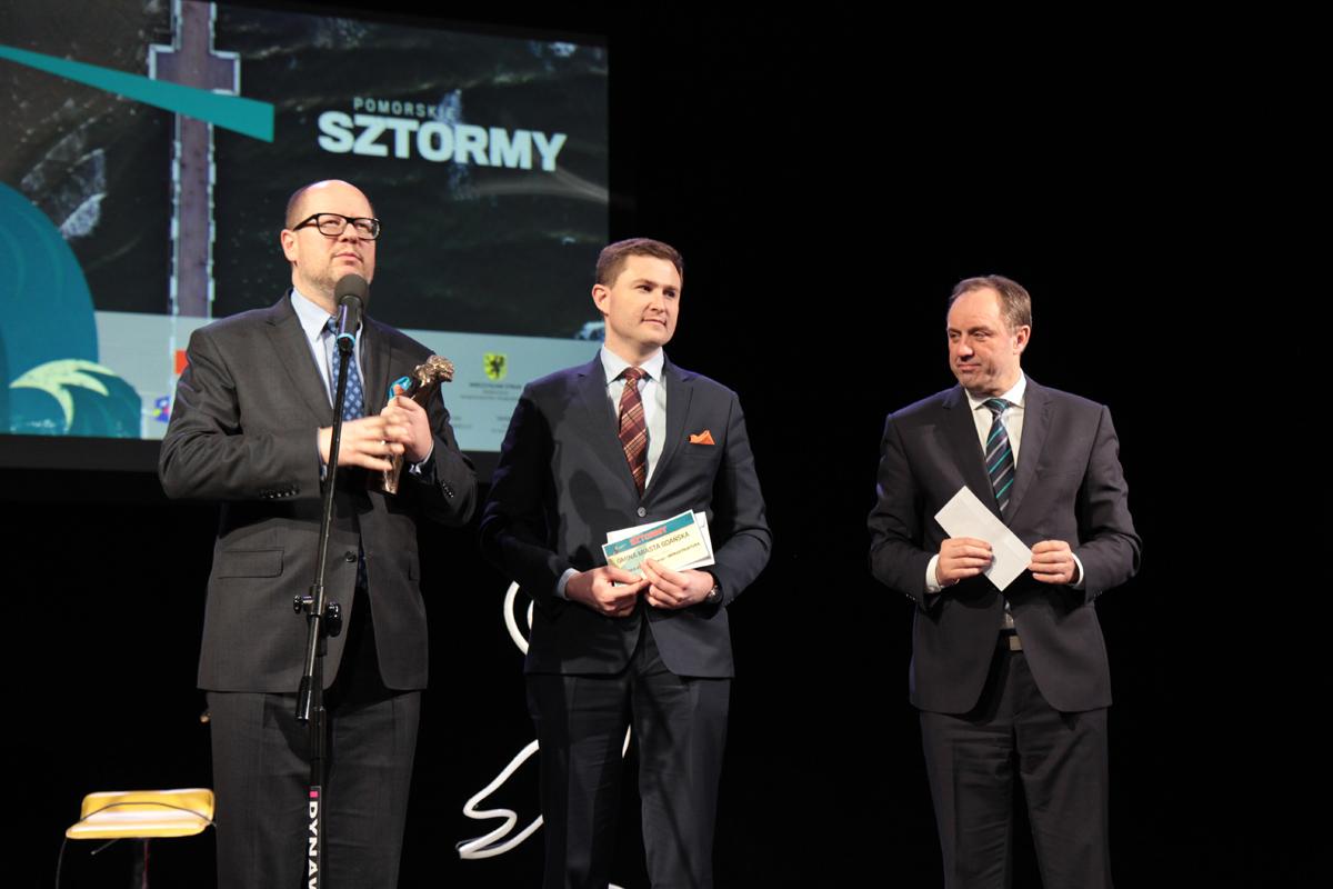 Prezydent Gdańska Paweł Adamowicz i Marszałek Mieczysław Struk