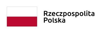 Biało czerwona flaga Polski. Po prawej tekst Rzeczpospolita Polska.